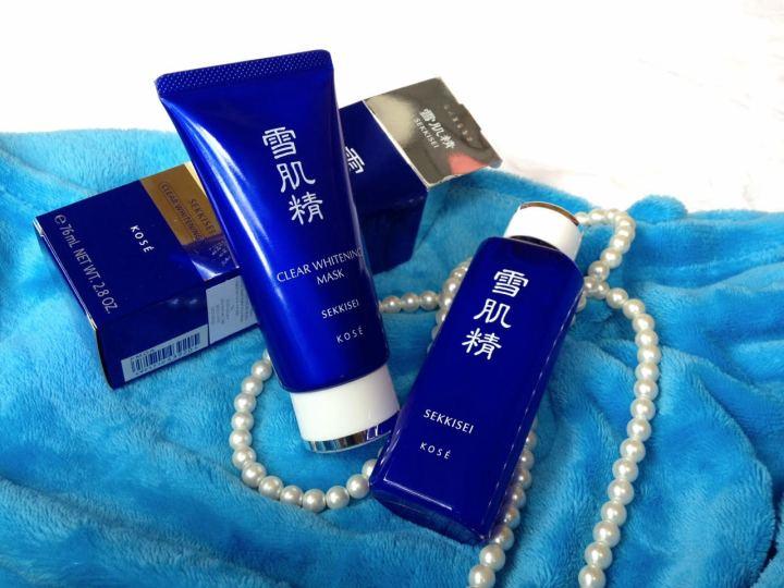 Review KOSE Sekkisei Clear Whitening Mask & Sekkisei ClearLotion